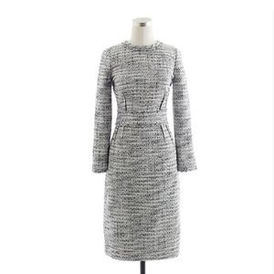 J. Crew Black and White Tweed Dress